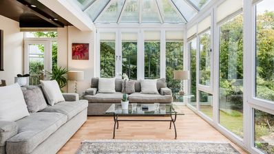 Tranquil Thames river views from the spacious and elevated conservatory