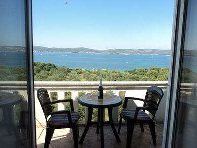 Photo for Relaxing holiday, panoramic view of the sea - 100m from the sea