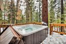 Upper level deck with Hot Tub.