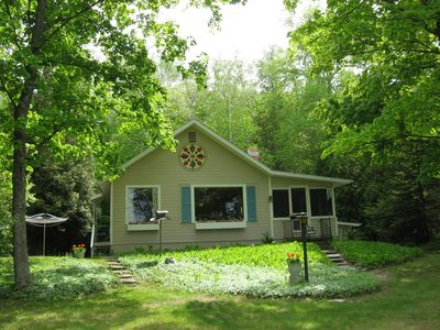 Photo for Lakefront cottage on scenic Crystal Lake.