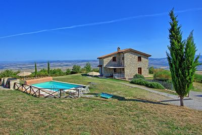 Panorama over the Vald'Orcia