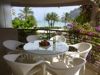 Photo for Super apartment directly on beautiful sandy beach and next to all facilities