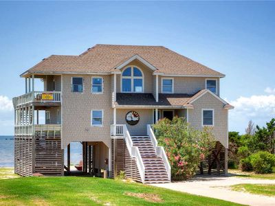 Soundfront Rodanthe w/ Own Private Sandy Beach & a Hot Tub! Great for Families!