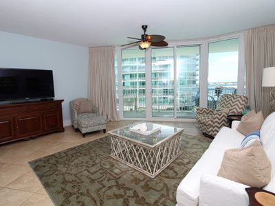 Photo for Caribe D301- Bay View w/ Large Terrace, Lazy River + Pool Slides!