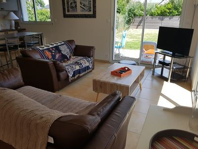 Photo for At 200 meters from the beach of PORS CARN, new house 3 stars on one level