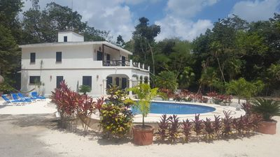 Photo for large family house, private pool in a peaceful jungle surrounding ocean closeby