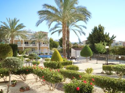 Photo for Ground Floor Apartment with Pool and Gardens close to Local Amenities and Beach