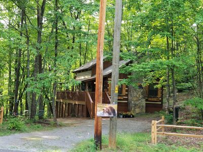 Photo for Cozy Private Remodeled Family Log Cabin between PF & G'burg-WIFI-Pets OK