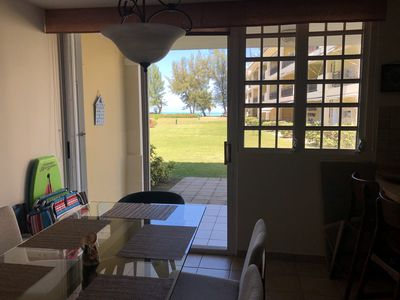 Photo for Beach front villa apt with ocean view, pool, 2 parkings, 24 security