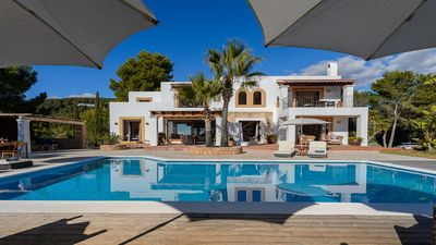 Photo for Modern Villa with Private Pool in a Peaceful Area with Panoramic Sea Views, close to Ibiza Town!