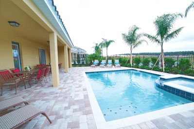 Private pool/spa with covered lanai