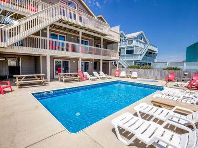 Photo for The Lodge | Oceanfront | Private Pool, Hot Tub