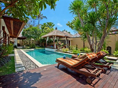 Photo for Luxury Balinese villa: Private beach entrance