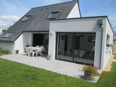 Photo for Bright house, fenced garden, south facing,170 m from beach, 300m from shops