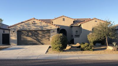Photo for Estrella Oasis: Private, Sunny Backyard with Pool, Spa, Firebowl & Gas BBQ