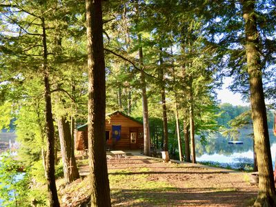 Photo for LAKE CABIN - TIMELESS BEAUTY Nestled 15' Feet Away from Water On 150' Peninsula