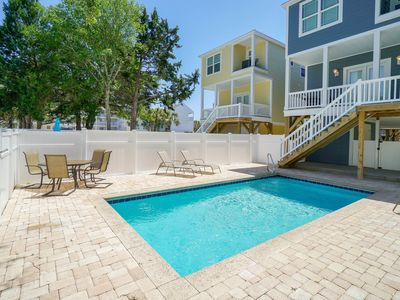 Photo for **FREE LINENS** ALL-INCLUSIVE RATES! 1/2 Block to Beach, Private Pool, NEW HOME