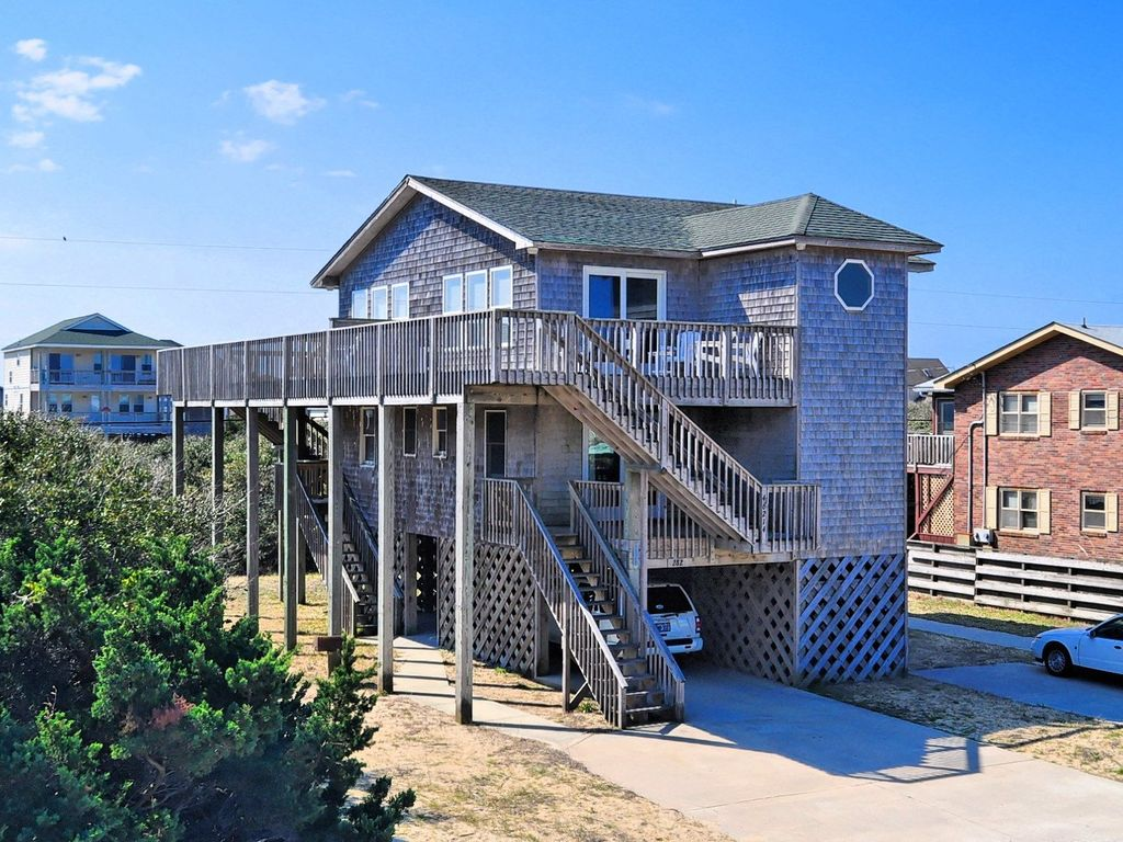 Storm cottage short walk to beach vrbo for Hatteras cabins rentals