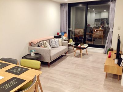 Photo for Modern and Stylish apartment, Gym, Sauna, Pool and More!