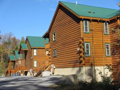 19 Bedrooms Sleeps 78 in Total. Three Large Cabins, all right next to each other