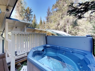 Photo for Dog-friendly cabins w/outdoor space & hot tub - near shopping, dining & skiing