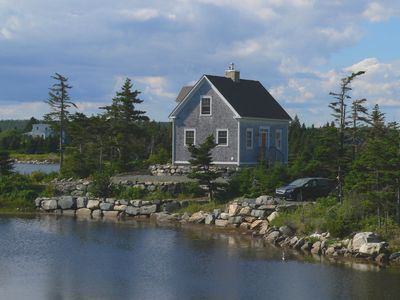 Photo for Beautiful post & beam oceanfront cottage with all the modern conveniences