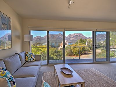 Photo for Stunning views, set on the edge of the Freycinet National Park. Fireplace & wifi