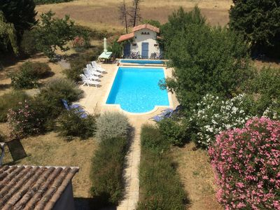 Photo for Spacious home Villemagne Lagrasse.Private pool & garden with vineyard/hill views