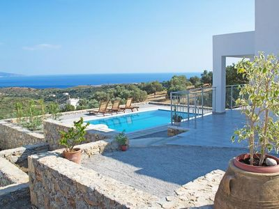 Photo for Beautiful Villas Noro Villas at Agia Galini in Crete for 4 people with pool and sea views.