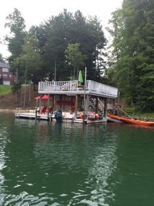 Double decker dock with Platform to swim out or launch kayaks