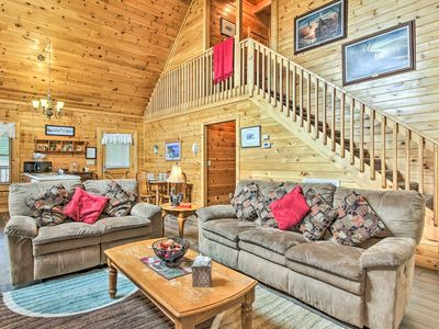 Photo for NEW! Family Cabin w/Pvt Hot Tub 4 Mi to Dollywood!