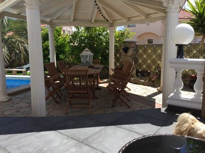 Photo for VILLA 3 BEDROOM SWIMMING POOL WIFI AIR CONDITIONED GARDEN 600 M FROM THE BEACH CALM