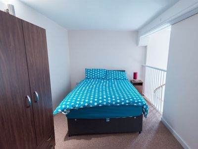 Bedroom   -  double bed, wardrobe, drawer unit