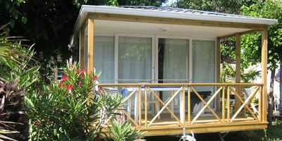 Photo for Camping l'Oasis Palavasienne **** - Air-conditioned 3-room mobile home 4/6 people