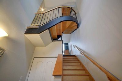3 flights of stairs
