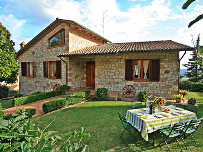 Photo for Charming Tuscany villa with private pool & garden ideal for families