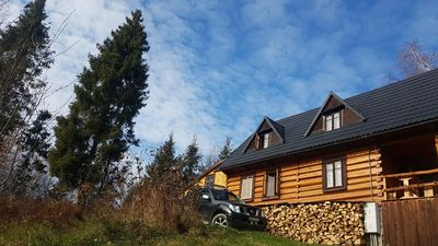 "Photo for The cottage ""Bacówka"" in the heart of the mountain - wooden log house in the Gor"