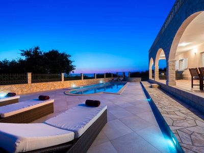 Photo for Beautiful stone villa with swimming pool and amazing sea view near Dubrovnik