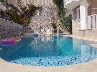 Photo for Modern 3 bed villa with private pool walkable to the beach resort of Sarigerme