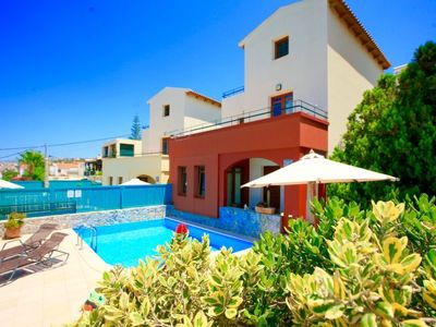Photo for Almyrida Holiday Home, Sleeps 7 with Pool, Air Con and WiFi