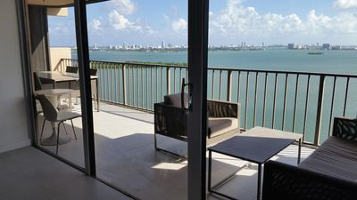Photo for 3BR Apartment with stunning views overlooking Biscayne Bay in Miami