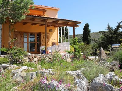 Photo for Rural idyll with sea view - detached holiday house Kambia, Crete
