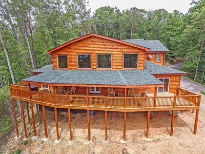Photo for Brand New  2017 , Condor's Wing  Beautiful Log Cabin ! with theatre