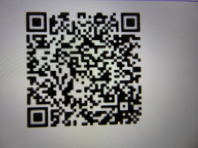 Flash (QR) code for a virtual visit of the boat and surroundings