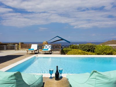 Photo for 175sq meters stone villa with a swimming pool and a sea view for rent