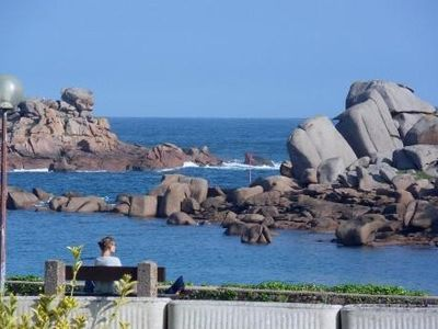Photo for Ploumanach Apartment - Panoramic View Of The Coast Of Granite Rose