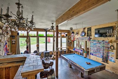 Grab a cold one and shoot some pool in the game room.