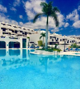 "Photo for ""PARADISE SUITES"" LUXURY-LOVELY & RELAX APT. / 5 POOLS / POOL BAR / WIFI / NEAR BEACH"
