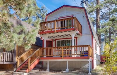 Photo for Rustic Lakewood Den w/ Hot Tub! Walk to the Lake and Village!