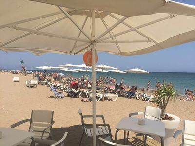 Photo for First line beach overlooking the sea and the Montgó, Free parking